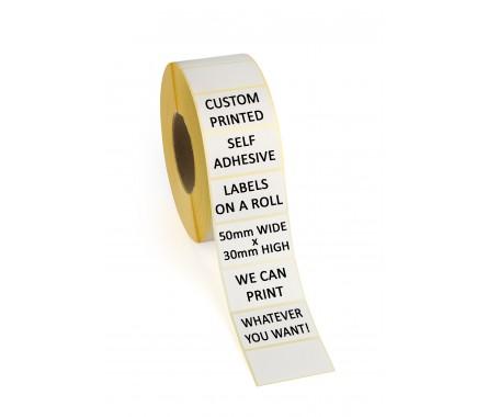 50mm x 30mm Self Adhesive Labels
